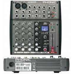 PHONIC AM220P mixer 6 canali con player USB