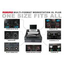 MAGMA Multi Format Workstation XL PLUS flightcase per console DJ multiformato