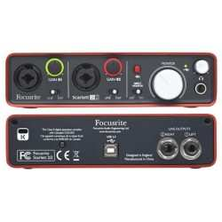 FOCUSRITE Scarlett 2i2 (2nd Generation) interfaccia audio USB 2 IN/2 OUT secondamano
