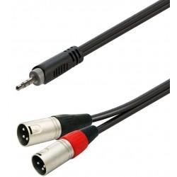 Soundsation GL-JSM2XM3Cavo adattatore minijack stereo maschio 3.5mm - 2xXLR maschio / 3mt