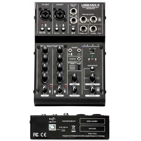 ART USB MIX4 mixer 4 canali usb