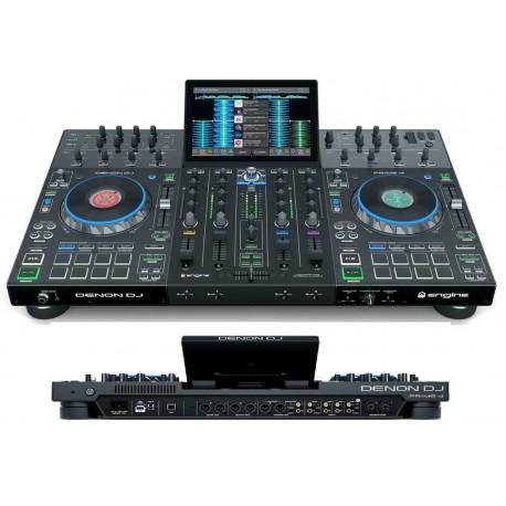 """DENON DJ PRIME 4 console stand-alone per dj con 4 deck e touch screen 10"""""""