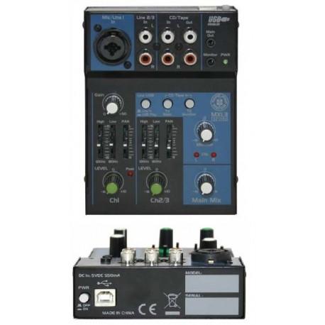 TOPP PRO TP MXi3BT mixer 3 canali usb- bluetooth