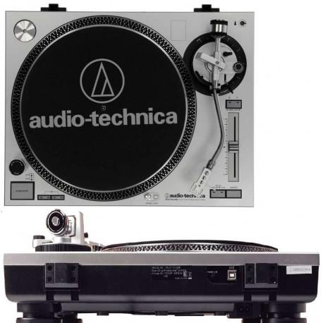 AUDIO TECHNICA ATLP120 USBHC Silver giradischi professionale a trazione diretta