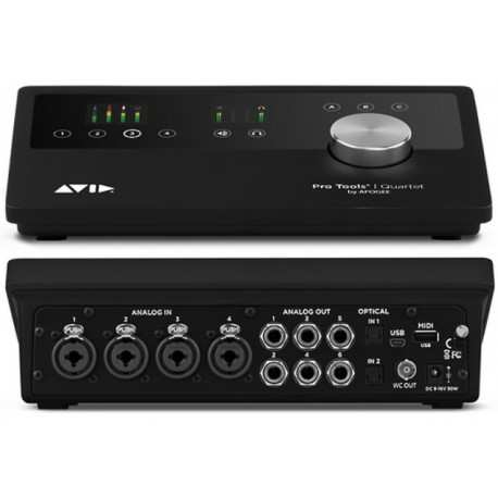 AVID Pro Tools Quartet interfaccia audio 12x8 midi/usb 24 bit/ 192 kHz con 4 preamplificatori microfonici