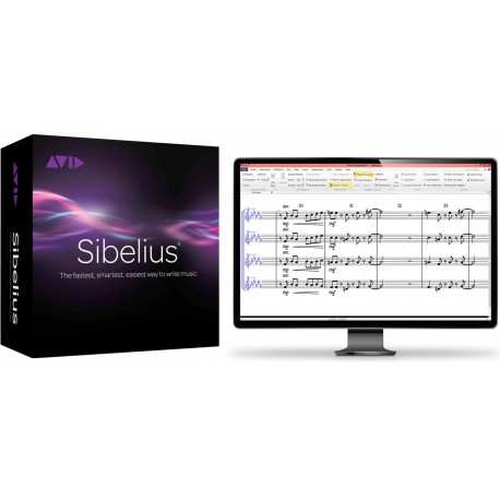AVID SIBELIUS software professionale di notazione musicale - activation card