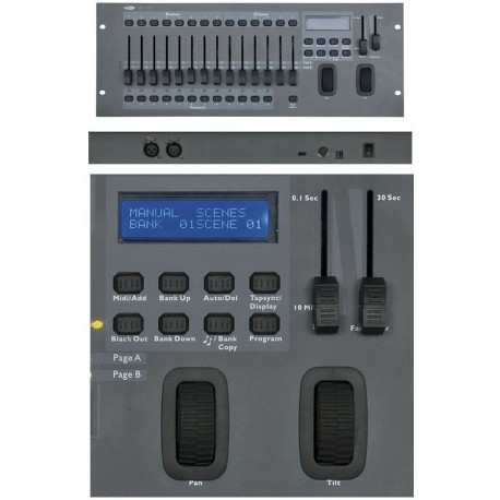 SHOWTEC SM-16/2 mixer luci 16 canali