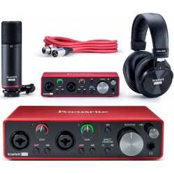 FOCUSRITE Scarlett 2i2 Studio (3rd gen) kit interfaccia audio microfono condensatore e cuffia monitor