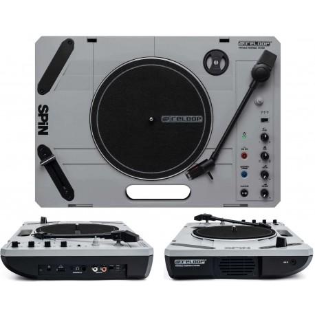RELOOP SPIN giradischi portatile bluetooth con speaker integrato