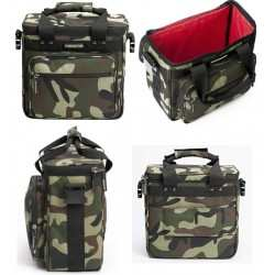 MAGMA LP Bag 50 Camo Green / Red borsa per 50 dischi/lp