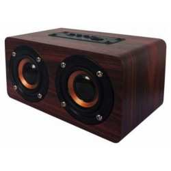 OQAN QBT-100 cassa bluetooth portatile 2x5 watt wood