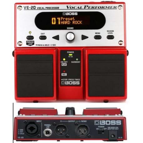 BOSS VE20 multieffetto a pedale per voce