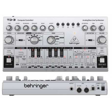 BEHRINGER TD-3 SR Silver synth analogico di bassi con step sequencer