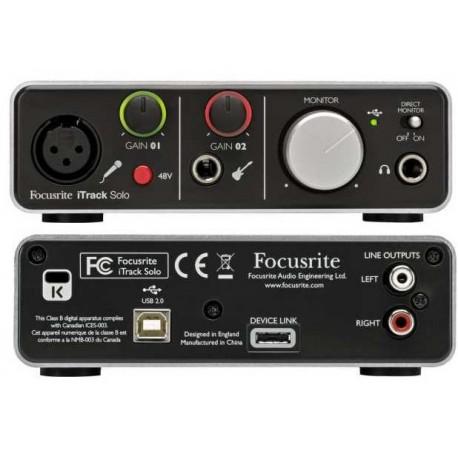 FOCUSRITE iTrack Solo Lightning scheda audio compatibile lightnig