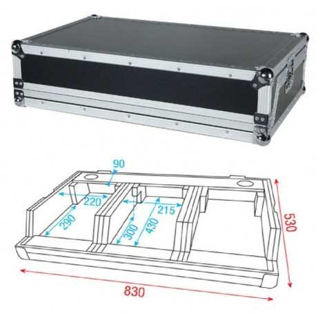 DAP AUDIO Dj Case for Pioneer small set D7566
