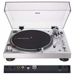 AUDIO TECHNICA AT-LP120X Silver giradischi professionale per DJ