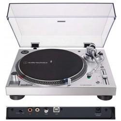 AUDIO TECHNICA AT-LP120XUSB Silver giradischi professionale per DJ