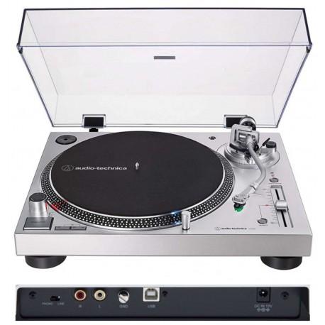 AUDIO TECHNICA AT-LP120X Silver giradischi professionale per DJ