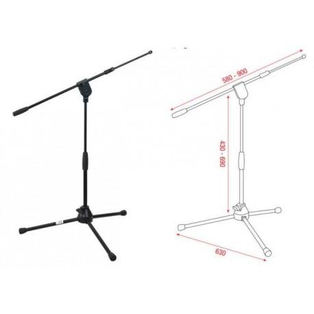 DAP AUDIO Pro microphone stand short, asta microfonica nana con braccio telescopico D8305