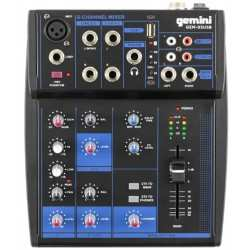GEMINI GEM-05 USB mixer 5 canali con bluetooth e player USB