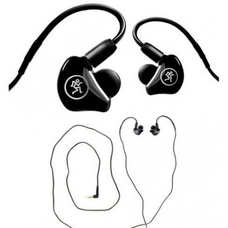 MACKIE MP240 in-ear monitor con doppio driver ibrido nera