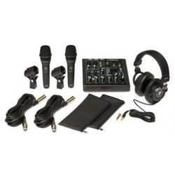 MACKIE PERFORMER BUNDLE cuffie, mixer e n2 microfoni dinamici