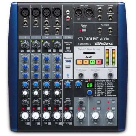 PRESONUS StudioLive AR8c mixer 8 canali con effetti e interfaccia audio multi-canale USB