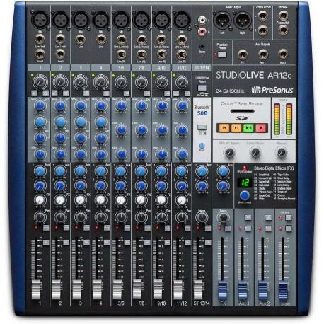 PRESONUS StudioLive AR12c mixer 12 canali con effetti e interfaccia audio multi-canale USB