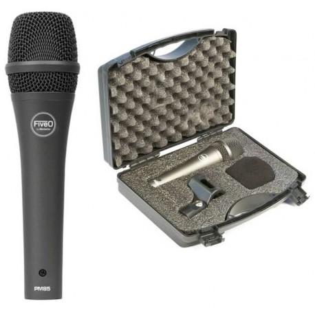 FIVE O by Montarbo PM85 microfono dinamico cardioide con valigetta di trasporto protettiva