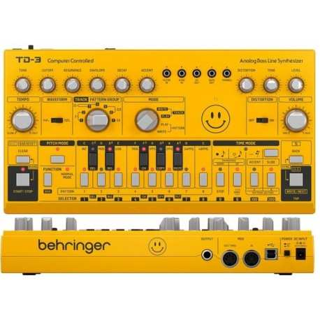 BEHRINGER TD-3 AM Yellow synth analogico con step-sequencer