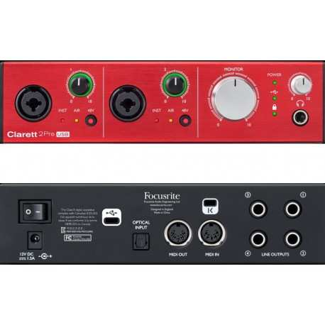 FOCUSRITE CLARETT 2 Pre USB scheda audio 10in/4out