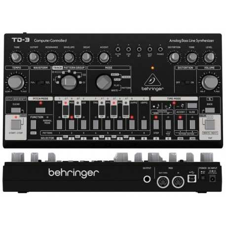 BEHRINGER TD-3 BK Black synth analogico con step-sequencer