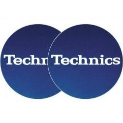 TECHNICS Slipmats Technics blu Logo bianco(coppia)