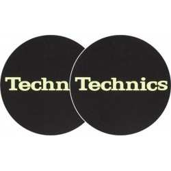 TECHNICS Slipmats Technics Logo Glow Yellow(coppia)