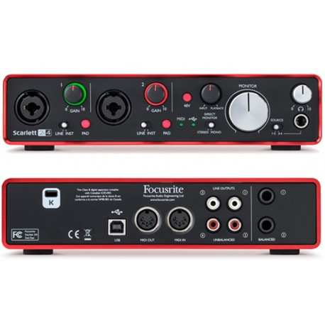 FOCUSRITE Scarlett 2i4 (2nd Generation) interfaccia audio USB 2 IN/4 OUT