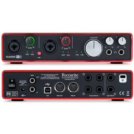 FOCUSRITE Scarlett 6i6 (2nd Generation) interfaccia audio USB 6 in/ 6 out