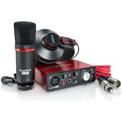 FOCUSRITE Scarlett Solo Studio (2nd Generation) kit interfaccia audio usb con microfono a condensatore e cuffia professionale