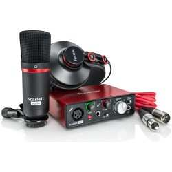 FOCUSRITE Scarlett Solo Studio (2nd Generation) kit interfaccia audio usb con microfono a condensatore e cuffia professionale