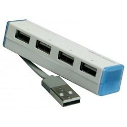 MEDIACOM MINI HUB USB 2.0 hub usb a 4 porte bianca/blu