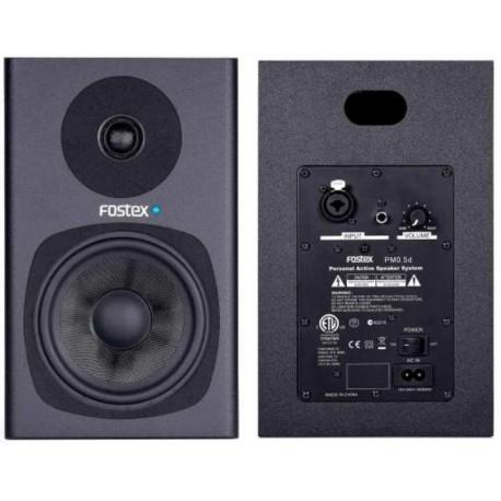 """FOSTEX PM0.5d Black (coppia) coppia studio monitor attivi 5""""/0.75"""" 2 vie 58W neri"""