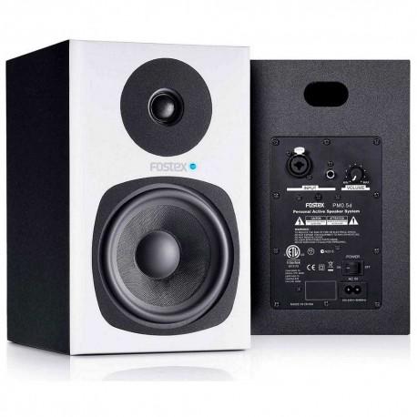 """FOSTEX PM0.5d WHITE (coppia) coppia studio monitor attivi 5""""/0.75"""" 2 vie 58W bianche"""