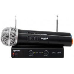 GEMINI VHF-02M S2/6 sistema microfonico palmare wirless 2 CANALI VHF 177.6 /198.6 MHz