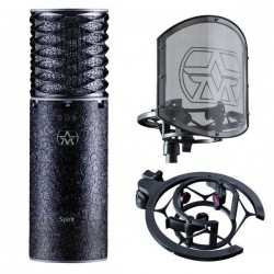 ASTON MICs Spirit Black Bundle - pack edizione limitata Spirit Black con shockmount e pop-filter