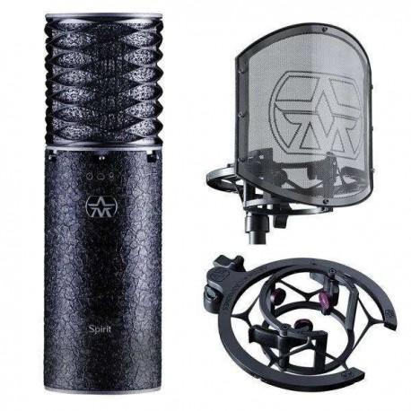 ASTON MICs Spirit Black Bundle - pack edizione limitata Spirit Black con shockmount e pop-filter