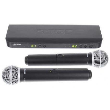 SHURE BLX288 / PG58 S8 sistema wireless combo con n 2 PG58