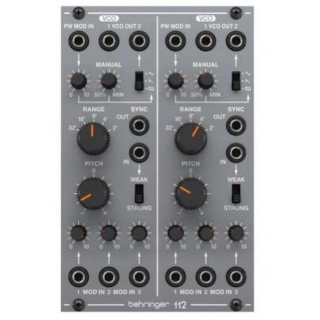 BEHRINGER 112 Dual VCO doppio modulo vco analogico per eurorack