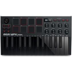 AKAI MPK MINI MKIII BLACK USB/ MIDI controller 25 tasti mini all black