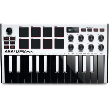 AKAI MPK MINI MKIII WHITE USB/ MIDI controller 25 tasti mini bianca con tasti neri e bianchi