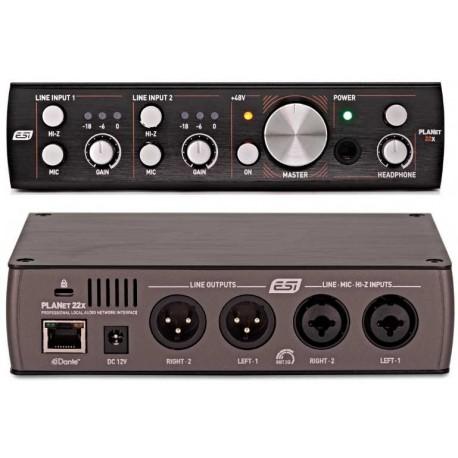 ESI PLANET 22x interfaccia audio di rete Dante 2 in 2 out