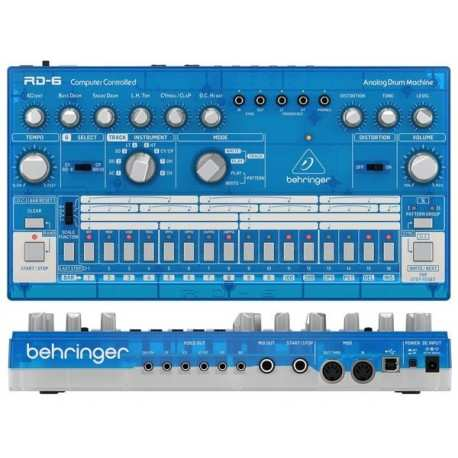 BEHRINGER RD-6-BB Analog Drum Machine - Blue Translucent
